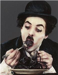 Lita Cabellut Charlie Chaplin